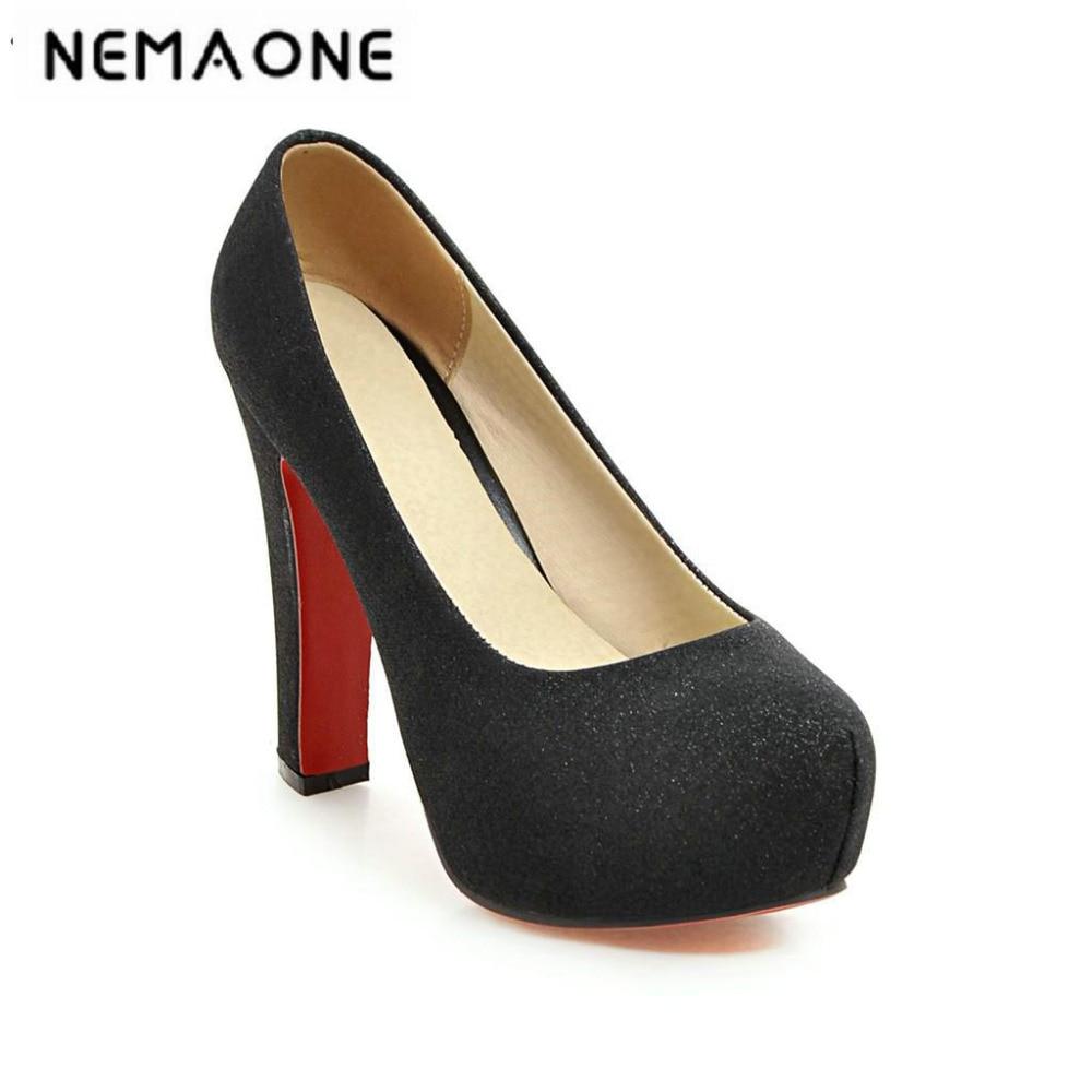 New Luxury Glitter Thin Heel Ankle Strap Women Pumps Elegant Platform High Heels Women Wedding Shoes Ladies Evening Party Shoes<br>