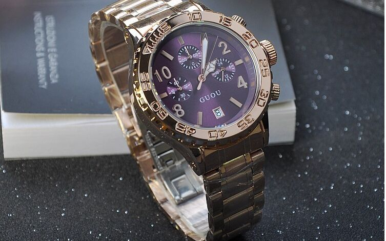 Brand Wristwatches Quartz Watches High Grade Womens Watches Stainless Steel Strap With Calendar Large Dial Luxury Tyrant<br>