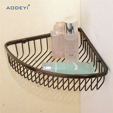 Bathroom Caddies Stainless Steel Corner Shower Wire Wall Basket Shelf, ORB Bathroom Shelf