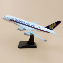 20cm Metal Airplane Model Air Singapore Airlines Airbus 380 A380 Airways Plane Model W Stand Aircraft Gift(China)