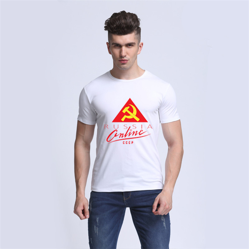 AOMU CCCP Letters Printed T Shirts Man T-shirt Short Sleeve Moscow Russia Tees Modal O Neck Tops Funny Streetwear Brand Clothing
