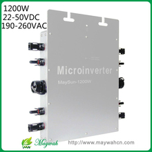 Maywah@ 1200W 22-50VDC Solar Power Micro Inverter, IP65 Micro Grid Tie Inverter with 4 MPPT Controller
