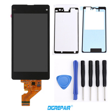 LCD+Adhesive+Tools Black For Sony Xperia Z1 Mini Compact D5503 M51W LCD Display touch screen digitizer Full Assembly Replacement