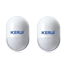 2 pcs/lot KERUI Wireless  pir detector wireless 433MHz pir motion sensor For Home Security GSM Alarm System