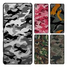 Camouflage flag Style Case Cover for Sony Ericsson Xperia X XZ XA XA1 M4 Aqua E4 E5 C4 C5 Z1 Z2 Z3 Z4 Z5