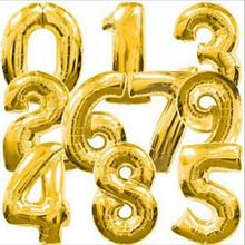 Buy 40 Inch Gold Number 0-9 Wedding Foil Balloons Kids Birthday Party Supplies Baby Shower Decorations Event & Party Supplies for $2.37 in AliExpress store