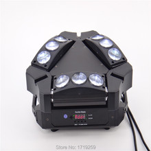 6pieces Free Shipping 2017 NEW Product Mini LED Stage Light 9 Eyes 10W RGBW Spider Beam Light Sueper Beam Light 150W