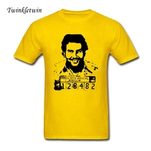 Custom Shirt Printing Pablo Escobar Comfortable T-shirt Homme Slim Straight T Shirt Men Fitness Tops Summer Style Tee Shirt