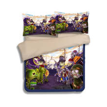Plants vs. Zombies game Bedding Sets For Boy Kids 3d Print Quilt Cover Set Cartoon Twin Queen Full King Size Bedspreads 3/4pcs