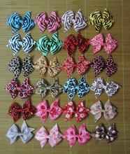 50 pieces 3 inch hair bows / three inch / wholesale hair bows / craft fair inventory / infant toddler hair bows(China)