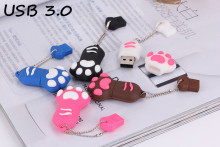 Fast write and read Cartoon  tiger Paw USB 3.0 Flash Memory Stick Pen Drive  4GB 8GB 16GB 32GB 64GB Creative Pendrives 3ZZ3