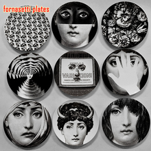 Fornasetti plate wall decoration Custom in Europe and America home decoration model room wall display to accept custom pictures(China)