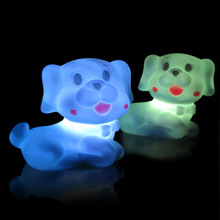 Luminous small toys cute new electronic pet dog colorful night light electronic toys festive Christmas gift(China)