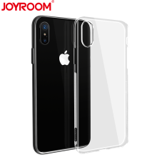 JOYROOM High-End Ultra Thin Soft Silicone Transparent Phone Case for iphone X Crystal Cell Phone Cover(China)