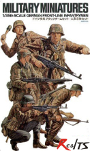 RealTS TAMIYA MODEL 1/35 SCALE military models #35196 German Front-Line Infantrymen plastic model kit