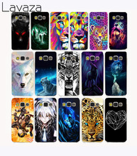 Lavaza 1440G Animal Tiger Lion Wolf Painted  Hard Case Cover for Samsung Galaxy S6 S7 S8 edge Plus S2 S3 S4 S5 Mini case cover
