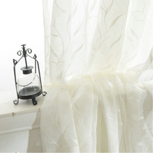 byetee Korean rural white gauze cotton embroidered Voile Curtains yarn white tulle curtains livingroom tulle curtain