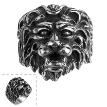 High Quality Antique Ring Stainless Steel Made for Men European/US Style Lion Skull Party Jewelry R102