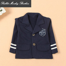 2017 new Spring fall child British College style boys casual suit boy coat jacket for Boy suit blazers for boys wedding suits(China)
