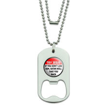 Custom Bottle Opener hot sales Dog Tag Bottle Opener Religious FH180031(China)