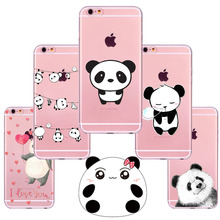 New China Cute Panda For iPhone 7  6 6S 5 5S SE Case Soft TPU Cute Animals Pandas Cover Coque Capa for iphone 6 Cases