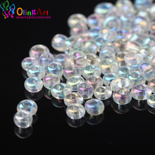 OlingArt 2MM 2500pcs/lot Glass Seed Beads Multicolored transparent Round spacer bead DIY jewelry making 2017 new