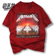 high quality t shirt METALLICA classic Tombstone cross music design master of puppets rock style heavy metal men/women t-shirt(China)