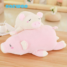Super Soft Lying Sleeping Pig Plush Toy Kawaii Large Pig Animal Pillow Sofa Soft Cushion Stuffed Doll Sweet Birthday Gift Girls