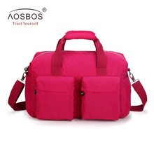 Aosbos 2018 3 Colors Solid Gym Bag for Women Men Duffel Totes Sport Bags Multifunction Portable Sports Travel Gym Fitness Bag(China)