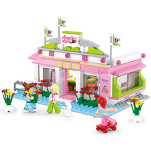 Sluban Model Toy Compatible with Lego B0527 289pcs Girl Billiards Club Model Building Kits Toys Hobbies Building Model Blocks(China)