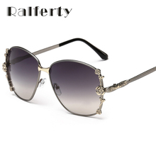 Ralferty Elegant Ladies Oversized Flower Sunglasses Women Vintage Luxury Designer Sun Glasses Female UV400 Driving Goggles 2224