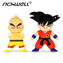 64GB Free shipping! Cartoon Pendrive Dragon Ball usb flash memory stick thumb drive 4gb 8gb 16gb 32gb 64gb Kuririn/Goku pendrive(China)