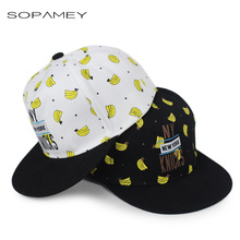 New Children's Hats Bone Feminino Baby Boy Cap NY Letter Baseball Cap Banana Printed Hip-hop Dance Cap Snapback Gorras Casquette(China)