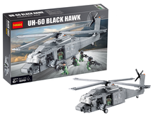 Decool 562Pcs Building Blocks Military UH-60 BLACK HAWK Plane Airplane Helicopter Educational Compatible with Brand blocks(China)