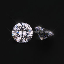 100pcs 0.8~2.5mm 5A Round Brilliant Cut White Cubic Zirconia Stone Loose CZ Samples Synthetic Cubic Zirconia Stones For Jewelry(China)