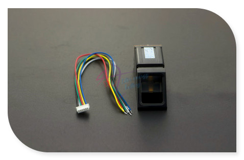 DFRobot Optical Fingerprint Sensor Module, DSP Compatible with Arduino Mega2560/UNO R3 with Basic Course for Authentication<br>