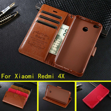 For Xiaomi Redmi 4X Case Luxury Flip PU Leather Stand Case For Xiaomi Redmi 4X Mobile Phone Cover(China)