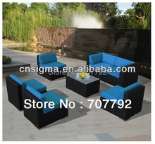 2014 New Designs Outdoor Furniture Genuine Ohana Outdoor Patio Sofa 7pcs Sectional Sofa Set