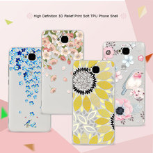 3D Art Print Case Coque For Huawei Honor 4C Pro 5.0 inch Soft TPU Flower Lace Relief Phone Cases Cover For Huawei 4C Pro Funda