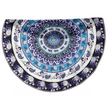 Indian Mandala Round Beach Towel Hippie Throw Yoga Mat Tapestry Blanket Holiday