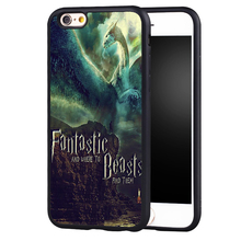 Fantastic Beasts and Where to Find Them Style Soft Rubber Case Cover For iPhone 6 6S Plus 7 7 Plus 5S 5C SE 4S Mobile phone bag