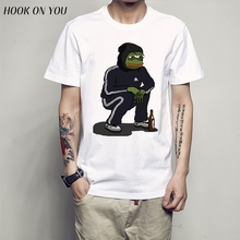 Dank Memes t shirt 2017 It Tee shirts Pepe Custom Short Sleeve Boyfriend's Male Coole Tee Shirts Plus Size XXXL free shipping(China)