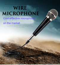 JIY Professional Wired Moving-coil type Microphone High fidelity sound Mic for Home Singing KTV karaoke computer meeting speaker(China)