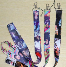 Free Shipping New Lots 10 pcs Michael Jackson fashion Mobile Phone LANYARD Neck Strap Charms(China)