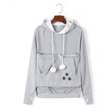 Mewgaroo Nyangaroo Cat Dog Pet Casual Unisex Kangaroo Coat Hoodies Sweatershirts Kangaroo Grey Cat Casual Hoodie Sweatershirts(China)