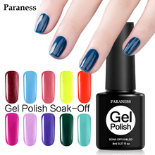 Paraness Newest 8ML Nail Art UV Gel Nails Polish Long Lasting Nail Gel Extension Manicure Beauty Tools 29 Pure Colors Gel