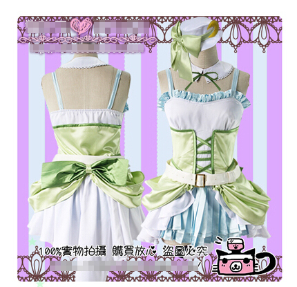 Anime Love Live! Hoshizora Rin Dancing Stars on Me Party Lolita Dress Skirt Uniforms Cosplay Costume Any Size Free Shipping