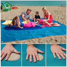 Outdoor Sand Mat Camping Mat Picnic Mattress Sand Proof Rug Blanket Fast Dry Easy Clean PVC Beach Cushion 150*200cm/200*200cm(China)
