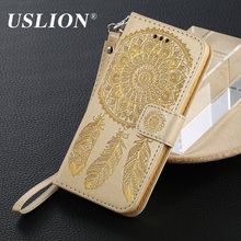 USLION Luxury Leather Cases for iphone 5 5s SE Wallet Card Slots Stand Flip Leather Phone Case Cover For iphone SE(China)