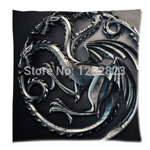 Free Shipping Hot Selling Game of Thrones Custom Zippered Pillow Case 18x18 (one side) P411(China)